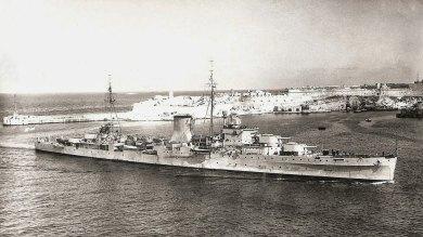 HMS Ajax, Malta, 1943