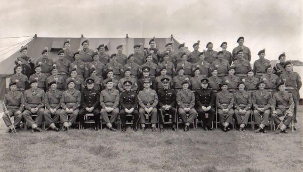 5th Batallion Lancashire Fusiliers. Geoffrey Rothband centre right.